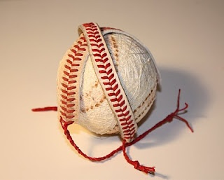 I need to find an old baseball to do this with.  Love it!
