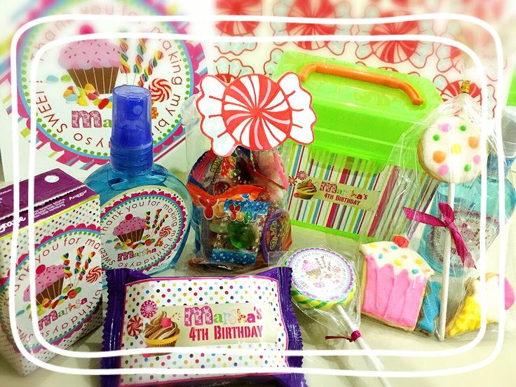 Goodie Bag candy themed #diy#candy#sweet#lolipop#birthday#bday#favour#marsha#ryumiru#cookies#juicycolor