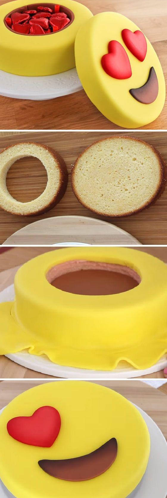 Torta de Emoji para San Valentín con el Secreto Caja de Bombones. Recetas románticas¨ #sanvalentin #valentinesday #valentine #love #azúcar #tips #cupcakes #cakes #dulces #receta #recipe #casero #torta #tartas #pastel #nestlecocina #bizcocho #bizcochuelo #tasty #cocina #chocolate #pan #panes Si te gusta dinos HOLA y dale a Me Gusta MIREN …