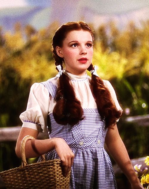 Judy Garland as Dorothy Gale from Kansas.