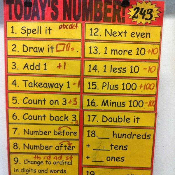 Have children do in a m at journal first ting every morning. today's number! Can be modified to 3rd grade.