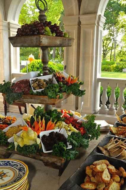 Great crudité display - The Enchanted Home