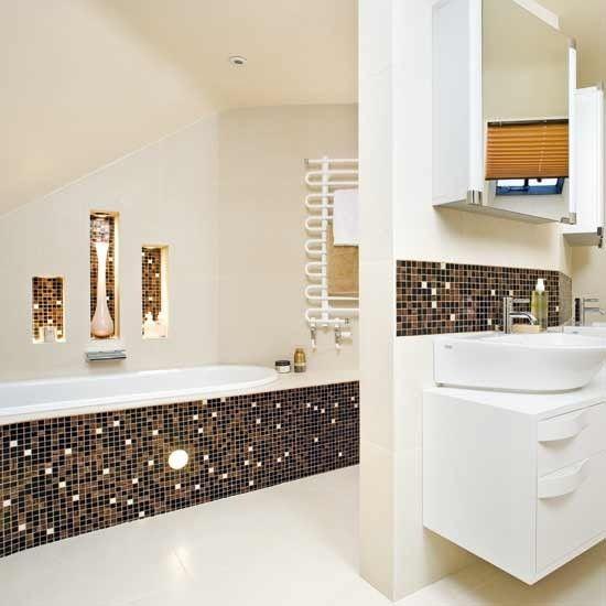 Hotel Glamour Bathroom. Mosaic Tile ...
