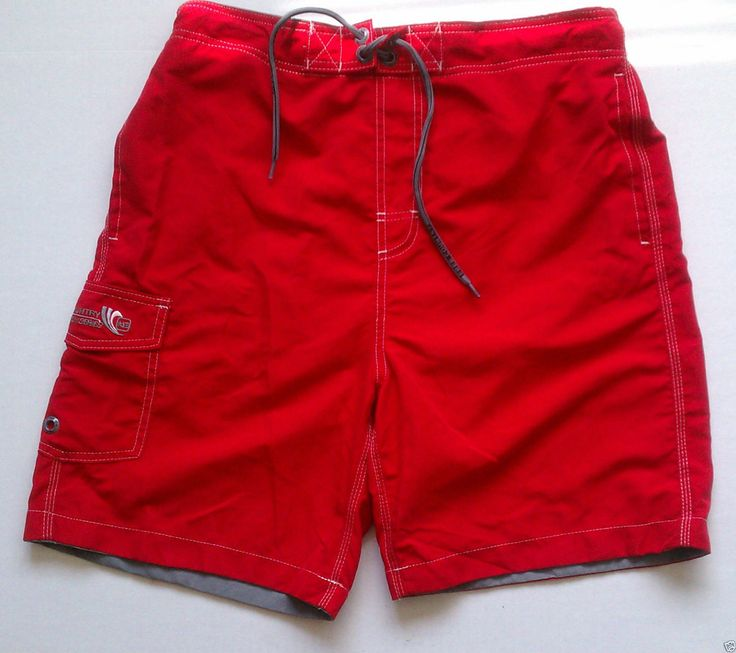 FREE COUNTRY men swimming trunks size M red (#swimwear) visit our ebay store at  http://stores.ebay.com/esquirestore