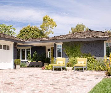 Ranch-Home Redo- My wish for our ranch style house. These people did exactly what I want to do, which is knock out a couple walls to open up the floor plan. What was it with people wanting to isolate every room of the house 30 years ago?