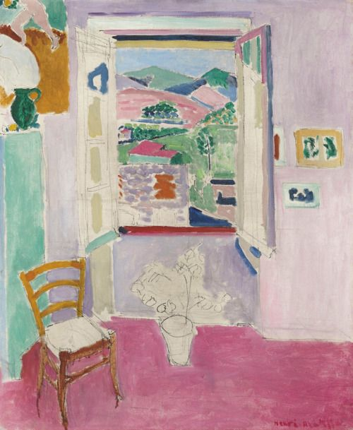 thunderstruck9: Henri Matisse (French, 1869-1954), La fenêtre ouverte [The open window], Collioure, 1911. Oil over pencil on canvas, 72.7 x 60.3 cm.