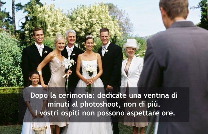 Il momento delle foto