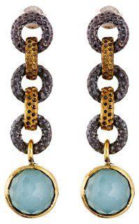 Chalcedony Link Drop Earrings