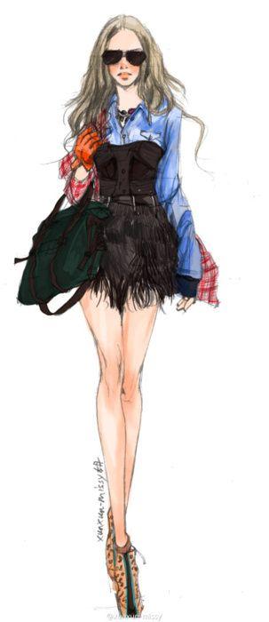 sketch, fashion, dress, jacket