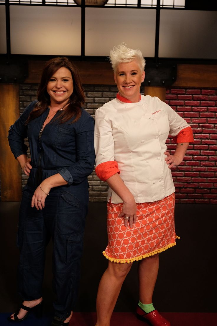 Photo of Anne Burrell & her friend  Rachael Ray