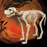 Large Skeleton Dog with LED Eyes and Timer Function