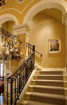 Mediterranean Staircase Ranch Style Design, Pictures, Remodel, Decor And  Ideas   Page 5