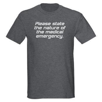 Star Trek Voyager: The Doctor Dark T-Shirt - Please state the nature of the medical emergency #startrek #tshirt