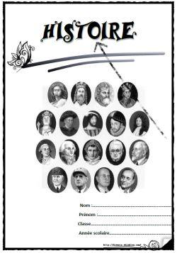 Pages de garde cahier histoire