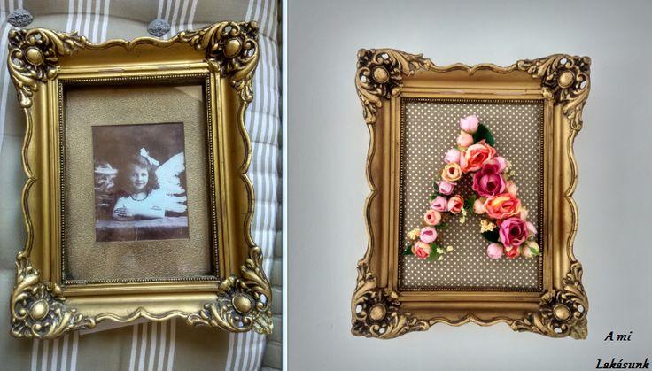 DIY kezdőbetű rózsákból DIY initial from roses