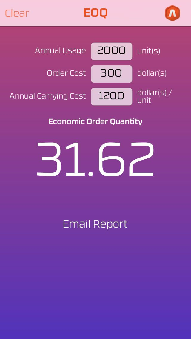 Economic Order Quantity | Utilities |777555428| iPhone App |  LIMITED TIME FREE  $0.00