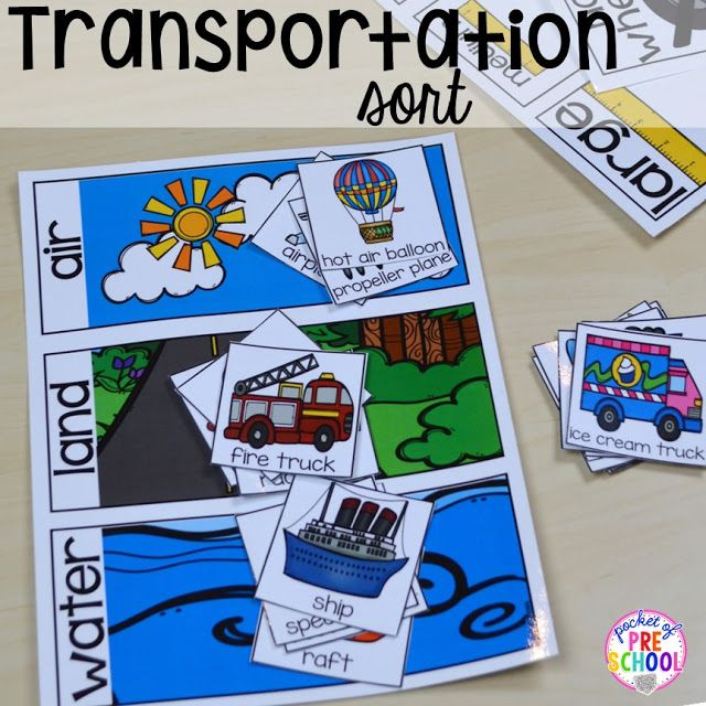 Preschool Transportation Crafts, Activities, Lessons, Games, and Printables