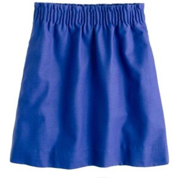 J Crew City Mini Blue wool skirt with elastic waist. Two side pockets and in great condition. J. Crew Skirts Mini