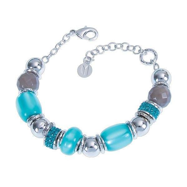 Bracciale a donna by Boccadamo in pietre dure azzurre collezione Milly.  #bracciale #braccialetto #blu #azzurro #boccadamo