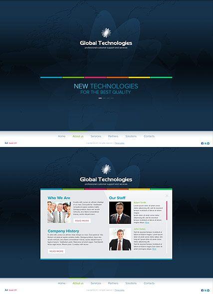 New Technology website template