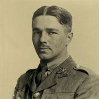 """Wilfred Owen - wrote poetry while on the frontlines of WWI, """"Dulce et Decorum Est"""" and """"Anthem for Doomed Youth"""""""