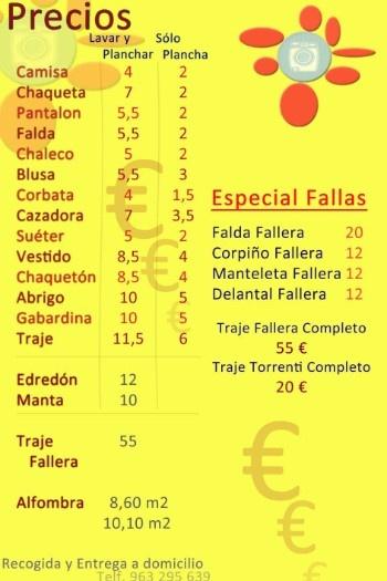 Precios tintoreria valencia domicilio | TINTORERIA CONCHI