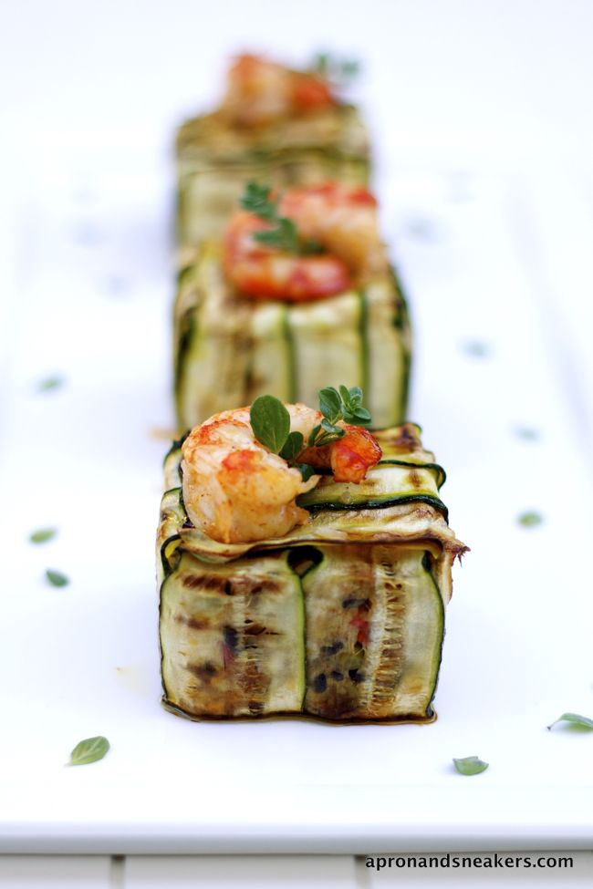 Black Venere & Basmati Rice Timballo with Grilled Vegetables & Shrimps