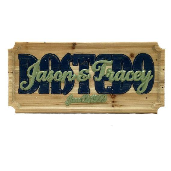 Wedding Date Custom Carved Wood Sign