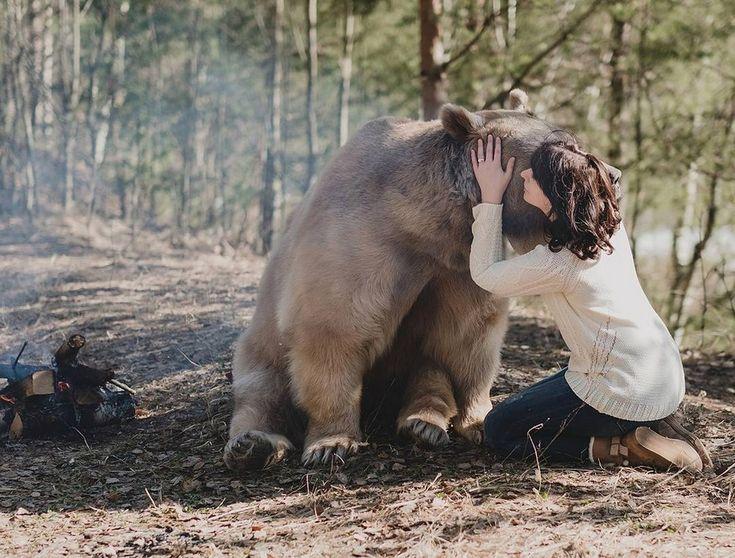 Удивительные фотосессии людей с животными Ольги Баранцевой « FotoRelax