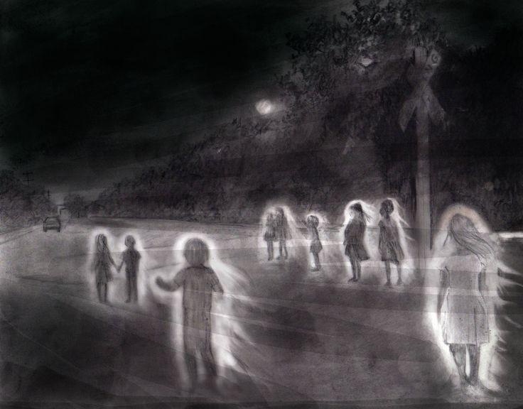 Carolyn Dee Flores - Pencil Drawing for GHOST TRACKS OF SAN ANTONIO