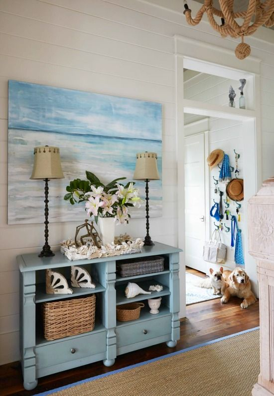 elegant home that abounds with beach house decor ideas - Beach Cottage Decorations
