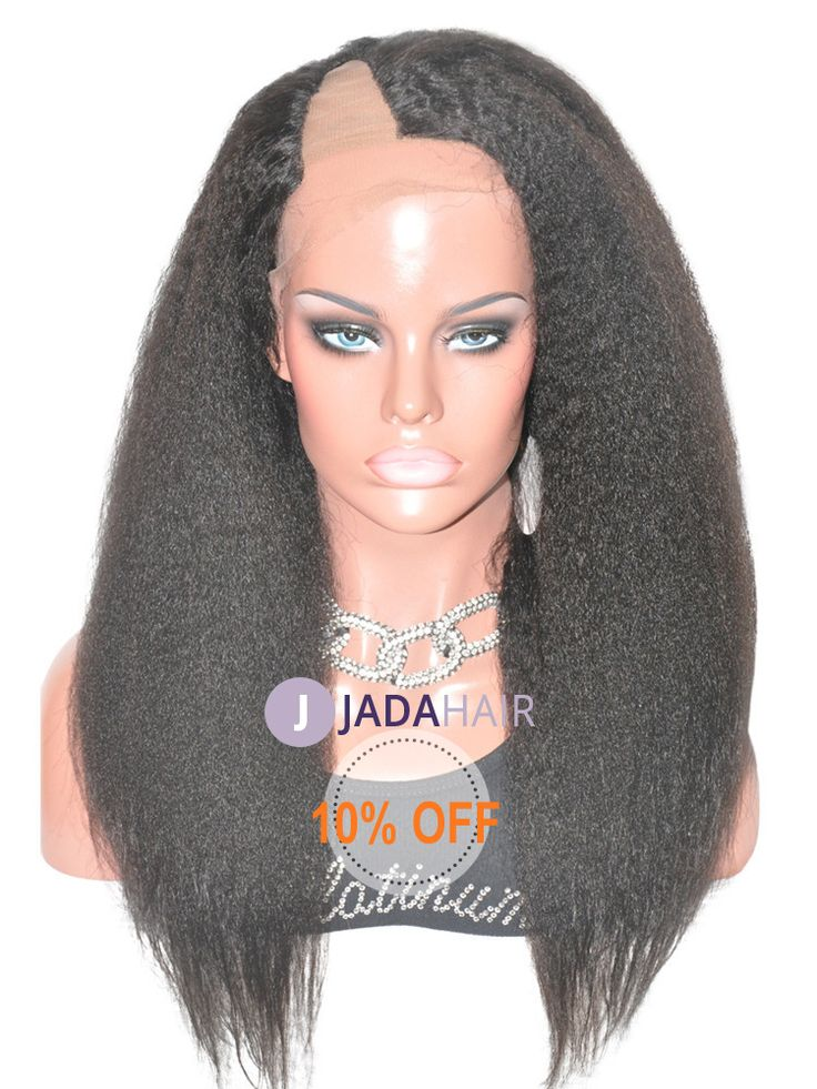 U part lace front wig kinky straight hairstyles  use code jada2012