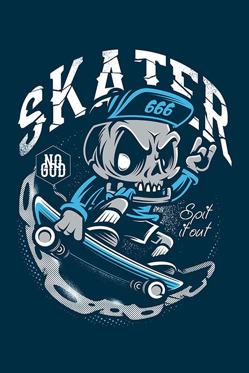 Skull Skater#2 by thinkd on deviantART
