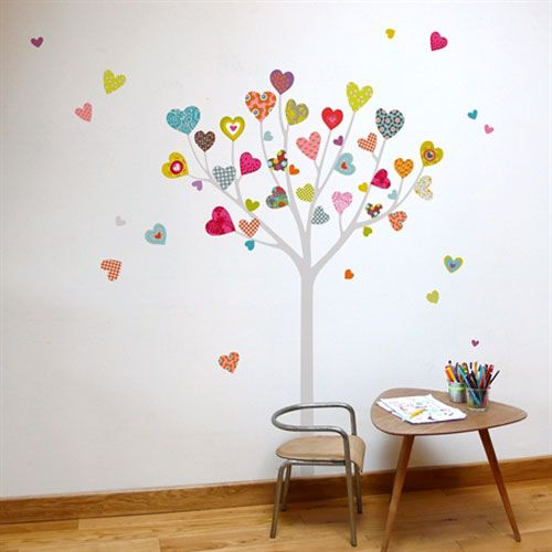 Mia Heart Tree Transfer Wall Decals