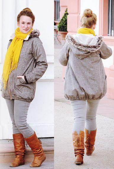 Warme Winterjacke oder Übergangsjacke mit Futter für Damen - Schnittmuster und Nähanleitung via Makerist.de