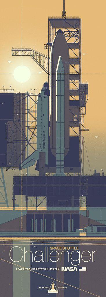 "Kevin Dart ""Space Shuttle Challenger"" Framed Print"