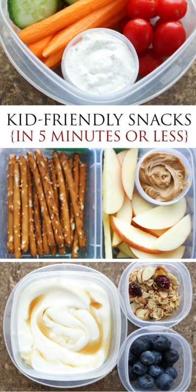 Kid-Friendly Snacks and Lunches {ready in 5 minutes} | eBay