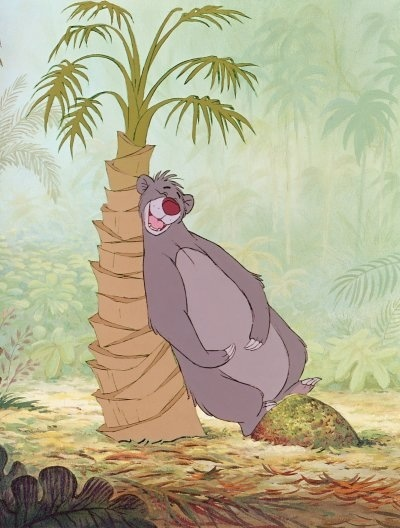 Baloo the bear from Walt Disney's The Jungle Book. 9w8 ESFP. Can't help myself with typing Disney characters.