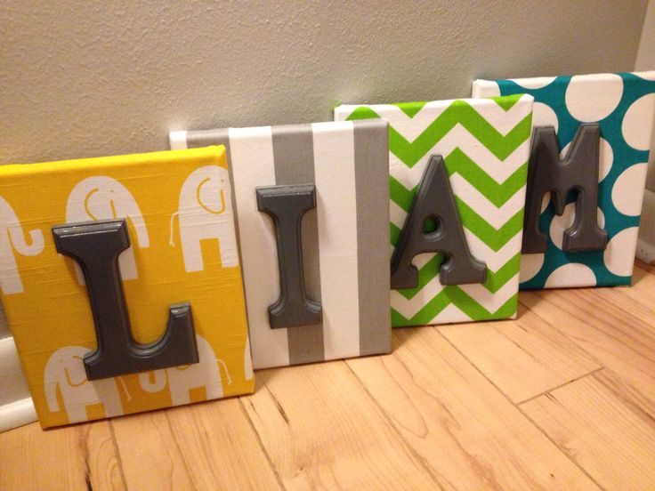 Wall Letters For Nursery Boy