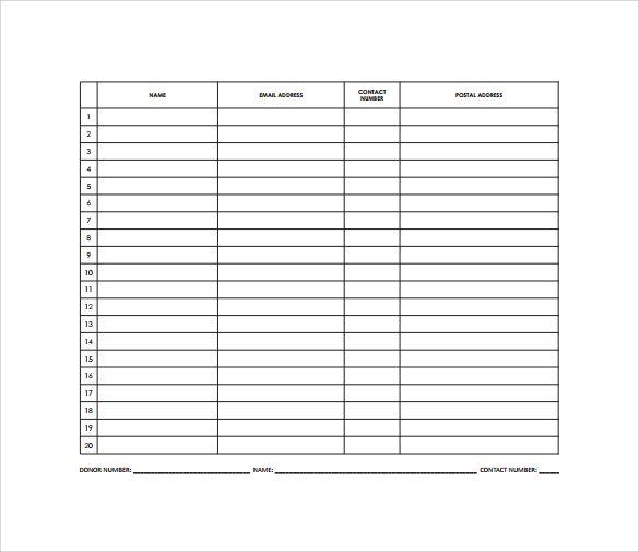 Raffle Sheet To Download Raffle
