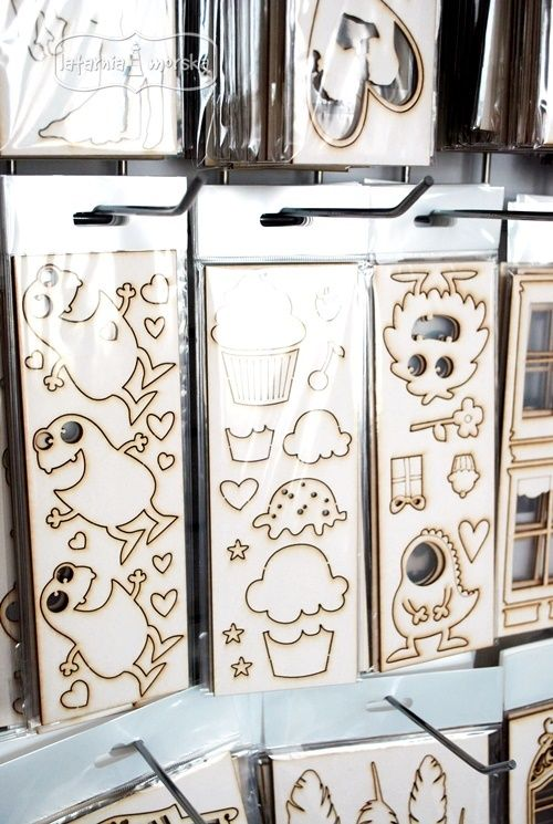 Ready to go! Our new chipboards from cupcakes and monster collection  http://www.hurt.scrap.com.pl/category/en/tekturki