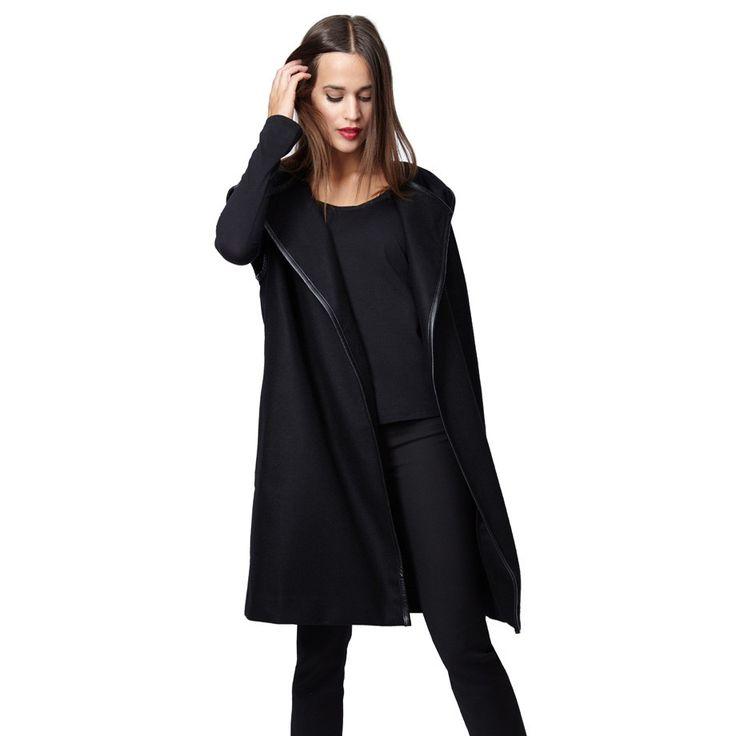 Wool Belted Vest Black