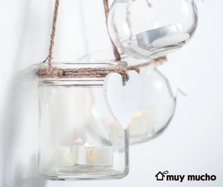 Recipientes de cristal y velas de muy mucho #muymucho #mymuchopormuypoco #velas #navidad #decoración