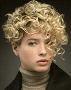 Blondie Funky Short Curly Hairstyle