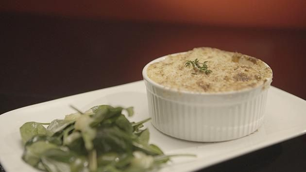 Moussaka with Candied Lemon Salad recipe by Caitie and Demi. #MKR #CaitieDemi #Main