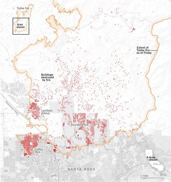 map of santa rosa fires by nathan yau datavis visualization