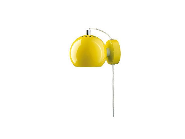 Kinkiet Ball I żółty — Kinkiety Frandsen Lighting — sfmeble.pl #yellow #design #lamp