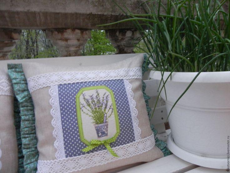 """Купить Подушка декоративная в стиле: """"Прованс"""" - дом, кружево, шитье, прованский стиль, уютный дом"""