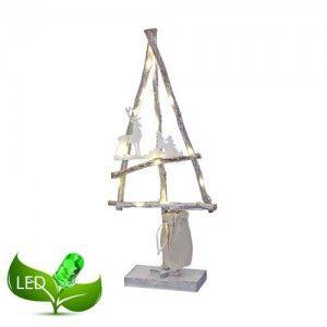 Ξύλινο χριστουγεννιάτικο δεντράκι 21x48cm φωτιζόμενο