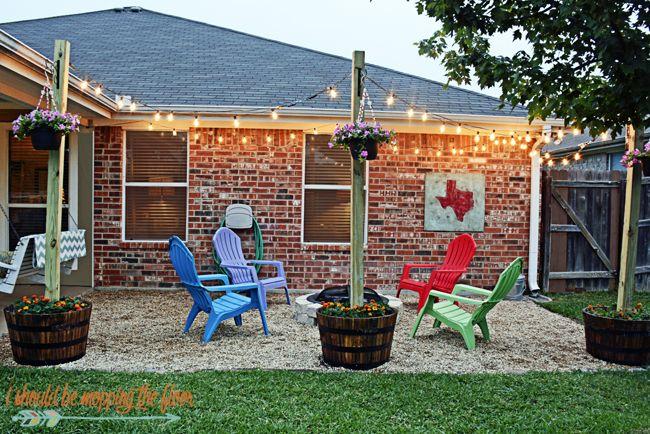 Patio, Diy patio and Pea gravel patio on Pinterest